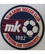 """Elm Grove Soccer Club MK 1992 Memorial Day Tournament  2"""" Patch - $9.95"""