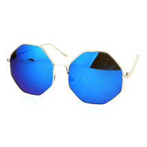 Oversized Octagon Shape Sunglasses Womens Shades Mirror Lens UV 400 - $10.95