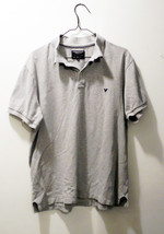 American Eagle Outfitters Gray Polo Shirt - Men's Size L - 100% Cotton - $304,27 MXN