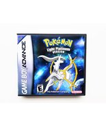 Pokemon Light Platinum Custom Case / Game - Gameboy Advance (GBA) USA Se... - $14.99+