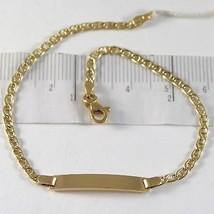 Pulsera de Oro Amarillo 750 18 CT, Jersey Marina y Placa para Grabado, 1... - $302.52
