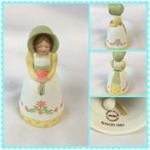 1985 Avon Country Porcelain Girl Bell Source Of Fine Collections Bonnet Spring - $16.65