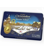 Dr.Quendt STOLLEN Christmas marzipan loaf GIFT TIN CAN XL 1000g/2.2lbs F... - $54.44