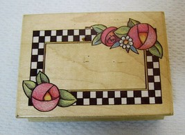 Mary Engelbreit Checkerboard Frame Rubber Stamp Mounted Scrapbooking Cra... - $12.38