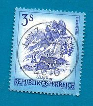 Used Austrian Postage Stamp 1974 Landscapes of Austria Scott  #963 - $1.99