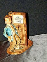 Vintage Man and Woman with God Bless Our Home Figurine AA19-1436 image 8