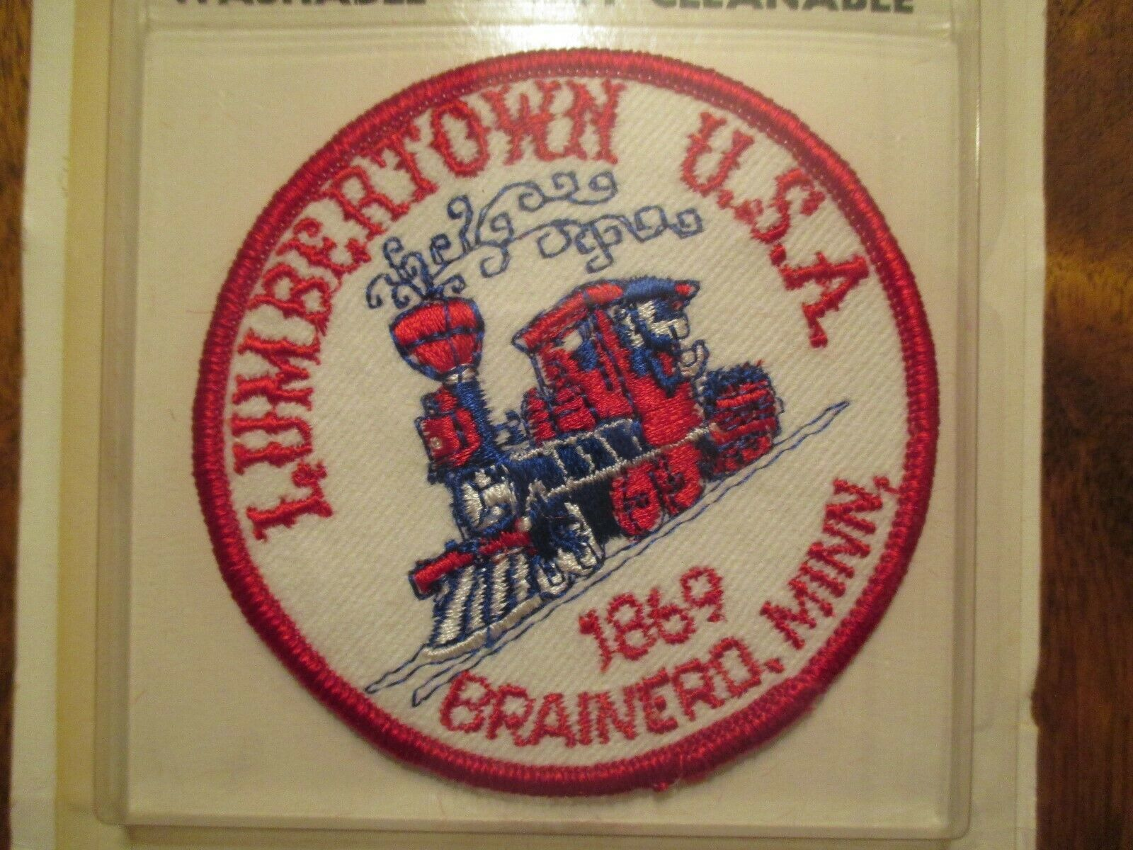 Brainerd Minnesota Lumbertown USA Embroidered Emblems Sealed Sew on Travel Patch image 2
