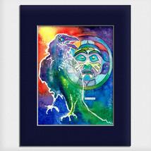 """Helen Simeonoff Native Alaskan Matted Art Print """"Raven Steals The Moon"""" - $19.00+"""