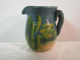 "Vintage Art 1941 Signed Southwest Cactus Clay Pottery TINY PITCHER 1-3/4"" - $17.99"