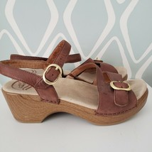 Dansko Brown Leather Slingback Sandals Womens EURO Size 37 US Shoes 6.5 - $39.59