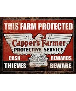 Cappers Farmers Insurance Classic Farm Tractor Metal Sign - $24.95