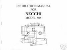 Necchi 505 Sewing Machine Owner Manual L Vintage  - $11.99