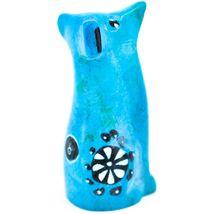 Vaneal Group Hand Carved Kisii Soapstone Light Blue Puppy Dog Miniature Figurine image 4