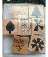 Stampin Up Shapes & Shadows Mounted Stamp Set Retired - $11.63