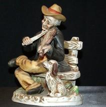 Old Man playing a violin Homco 1157AA AA-191921 Collectible Vintage image 2