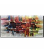 Amei Art Paintings,24X48 Inch Hand-Painted Oil Paintings on Canvas Color... - $86.13