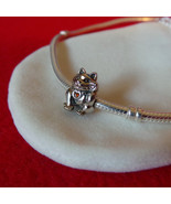 NEW Lucky Waving Kitty Cat Charm, s925 Sterling Silver with Enamel Heart... - $11.99
