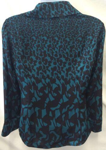 DVF DIANE VON FURSTENBERG Silk Blouse Authentic Berriti Crossover Women's Size 2 image 4