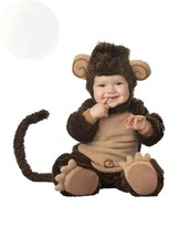 Incharacter Costumes Babys Lil Monkey Costume Brown/Tan 6-12 Months Ships Free - $83.63