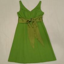 J Crew Green Dress Sundress with Sash Empire Waist P 8  - $28.00