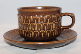 Wedgwood Pennine Brown Coffee Tea Mug Cup Saucer Set Made in England Vin... - $20.07