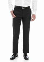 Greg Norman ~ P4LM10 ~ Slim Fit/Flat Front Pants ~ Black Grid  ~ Men's 3... - $31.68