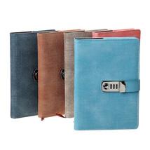 Lockable A5 Diary Notebook Combination Locking PU Journal Writing Noteboo - $31.00