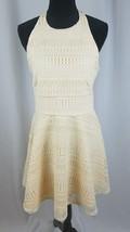 The Vanity Room women M cream Geo halter sleeveless lace fit & flare dress - €54,14 EUR