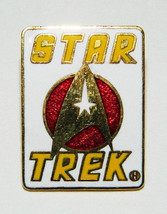 Star Trek Classic White Executive Insignia and Name Enamel Metal Pin 198... - $7.84