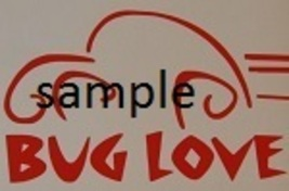 Vw Bug Love Cross Stitch Chart - $8.00