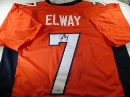 JOHN ELWAY / HALL OF FAME / AUTOGRAPHED DENVER BRONCOS PRO STYLE JERSEY / COA