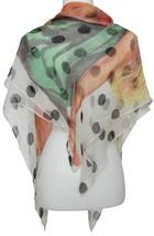 DOLCE & GABBANA Scarf Wrap Polka Dot Sheer Silk Swimsuit Model White Black - £72.53 GBP