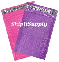 2-500 #000 4X8 Poly ( Pink & Purple ) Color Bubble Padded Mailers Fast S... - $2.99+