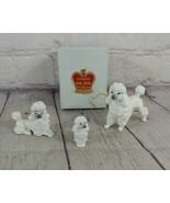 Set Of 3 Vintage Genuine Bone China Poodles - $19.79