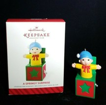 A Springy Surprise Hallmark Keepsake Ornament Jack In The Box KOC Thank You 2014 - $5.89