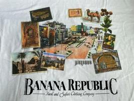 Vintage 90s BANANA REPUBLIC Logo T-SHIRT Made in USA Single Stitch Morocco - £187.80 GBP