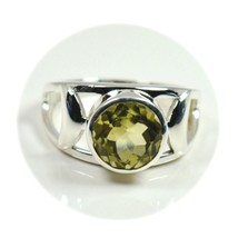 Natural Lemon Quartz Ring Sterling 925 Silver Jewelry Sizes 4,5,6,7,8,9,... - $35.54