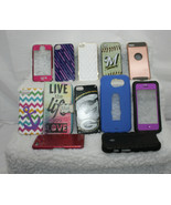 Lot of 12 Cell Phone Cases, Covers, Skins ~ Hard, Rubber, Flip, Brewers,... - $11.39