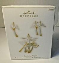 New in Box 2008 Hallmark Keepsake Rejoicing Angels 3 Christmas Ornaments - $11.85