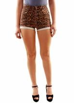 One Teaspoon Women's Black Cat Harlets Denim Shorts Multi Size 26 RRP $1... - $65.75