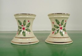 """Lenox Dimension HOLIDAY 2"""" Single Light Candlestick Candle Holder Pair H... - $21.73"""