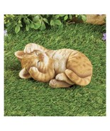 Orange Tabby Sleeping Kitty Garden Figure (col) J5 - $89.09