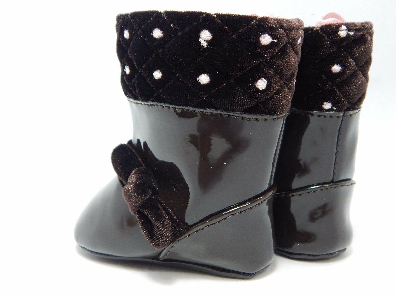 Nwt Baby Deer Lackleder Kleinkind Mädchen Stiefel Schuhe Gr. 1 0-12 Months
