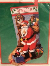 """""""Christmas Eve"""" Dimensions 16"""" Counted Cross Stitch Stocking Kit Needlepoint - $89.95"""