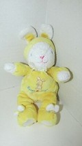 Carters Plush White yellow Bunny Hugs Rabbit slippers Stuffed Rattle bab... - $29.69