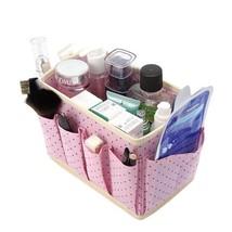 Cosmetic Organizer Makeup Storage Boxes Bins Non-Woven Wash Accessories ... - $11.79
