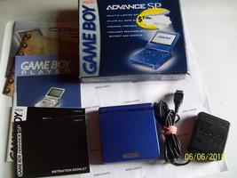 Nintendo GameBoy Advance SP Cobalt Blue Handheld System  IN ORIGINAL BO... - $74.67
