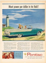 Vintage 1955 Magazine Ad Pontiac Most Power Per Dollar In Its Field Star Chief - $5.93