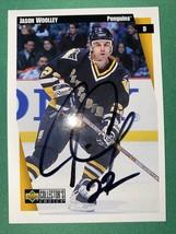 1997 Collectors Choice #203 Jason Woolley Signature Autograph AUTO Penguins - $3.80
