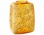 LALIQUE FLEURS DE CERISIER VASE AMBER CRYSTAL GOLD STAMPED 10708200 NEW